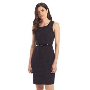 NWT 🖤 Black Polka Dot Sheath Dress
